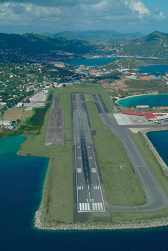 Aerial photo of TIST (Cyril E King Airport)