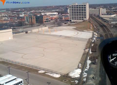 Aerial photo of 8A4 (Indianapolis Downtown Heliport)