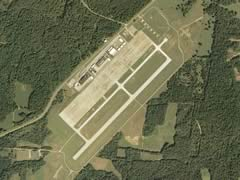 Aerial photo of KEOD (Sabre Army Airfield (Fort Campbell))