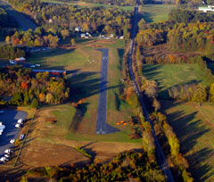 Aerial photo of KGVE (Gordonsville Municipal Airport)