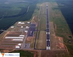 Aerial photo of KTTA (Raleigh Executive Jetport at Sanford-Lee County Airport)