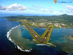 Aerial photo of NSTU (Tafuna/Pago Pago International Airport)