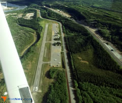 Aerial photo of PAHV (Healy River Airport)