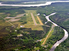 Aerial photo of PAML (Manley Hot Springs Airport)