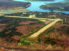 Aerial photo of PAOC (Portage Creek Airport)