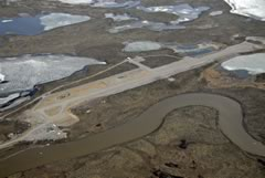 Aerial photo of PARC (Arctic Village Airport)