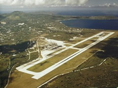 Aerial photo of PGSN (Francisco C Ada/Saipan International Airport)
