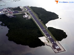 Aerial photo of PTPN (Pohnpei International Airport)