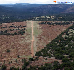 Aerial photo of 24AZ (Pleasant Valley Airstrip)