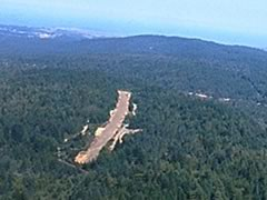 Aerial photo of 53CL (Lofty Redwoods Airport)