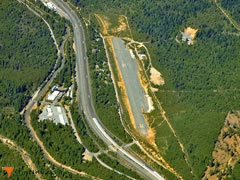Aerial photo of 1O6 (Dunsmuir Municipal-Mott Airport)