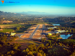 Aerial photo of KHES (Healdsburg Municipal Airport)