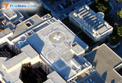 Aerial photo of 15CA (Stanford University Hospital Center Heliport)
