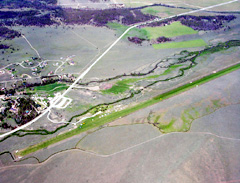 Aerial photo of U87 (Smiley Creek Airport)