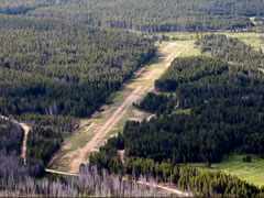 Aerial photo of 0U0 (Landmark USFS Airport)
