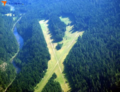 Aerial photo of 1U1 (Moose Creek USFS Airport)