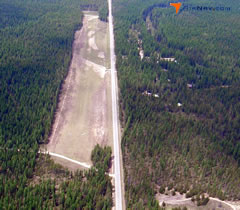 Aerial photo of 67S (Priest Lake USFS Airport)