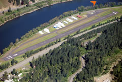 Aerial photo of S68 (Orofino Municipal Airport)