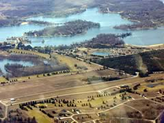 Aerial photo of 0C5 (Canadian Lakes Airport)