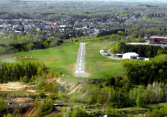 Aerial photo of Y73 (Stambaugh Airport)