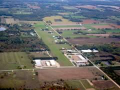 Aerial photo of 53W (Woodruff Lake Airport)