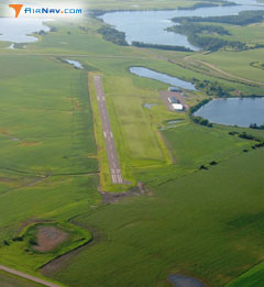 Aerial photo of Y63 (Elbow Lake Municipal - Pride of the Prairie Airport)