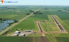 Aerial photo of KLYV (Quentin Aanenson Field Airport)