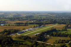 Aerial photo of 3NO (North Omaha Airport)
