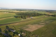 Aerial photo of D82 (Ovid Airport)
