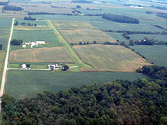 Aerial photo of 7B4 (Miller Farm Landing Strip)