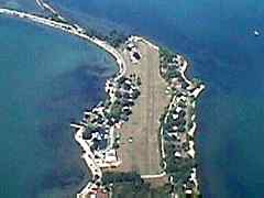 Aerial photo of 3W9 (Middle Bass-East Point Airport)