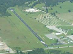 Aerial photo of KAQR (Atoka Municipal Airport)