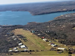 Aerial photo of 44M (Tenkiller Lake Airpark)