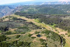 Aerial photo of 25U (Memaloose USFS Airport)