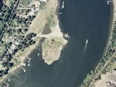 Aerial photo of 2OG3 (Wiley's Seaplane Port)