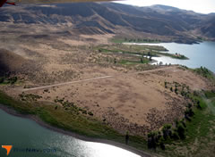Aerial photo of 28U (Owyhee Reservoir State Airport)