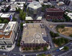 Aerial photo of 61J (Portland Downtown Heliport)