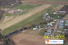Aerial photo of PA40 (Benton Airport)