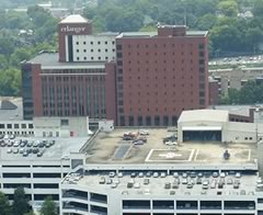 Aerial photo of 0TN8 (Erlanger Medical Center Heliport)
