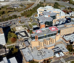 Aerial photo of VA88 (Sentara Norfolk General Hospital Heliport)