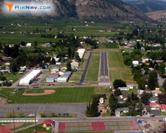 Aerial photo of 8S2 (Cashmere-Dryden Airport)