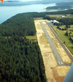 Aerial photo of S31 (Lopez Island Airport)