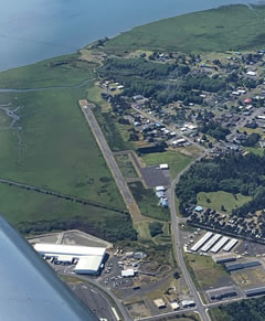 Aerial photo of 14S (Westport Airport)