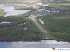 Aerial photo of KKI (Akiachak Seaplane Base)