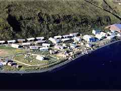 Aerial photo of KQA (Akutan Seaplane Base)