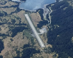 Aerial photo of PFCB (Chenega Bay Airport)