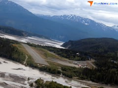 Aerial photo of CXC (Chitina Airport)