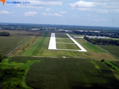 Aerial photo of 2R2 (Hendricks County Airport-Gordon Graham Field)
