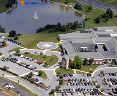 Aerial photo of 6PN2 (LGH-Women and Babies Hospital Heliport)