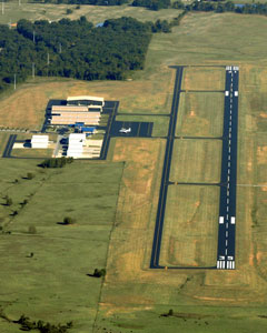 Aerial photo of KOSA (Mount Pleasant Regional Airport)